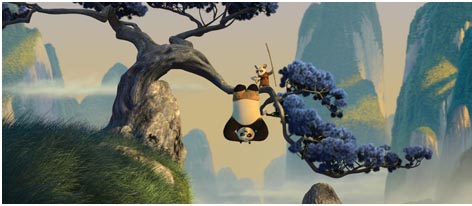 Po and his master in a harsh training session (Copyright Dreamworks)