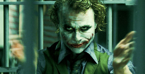 Heath Ledger as the unforgettable Joker in The Dark Knight