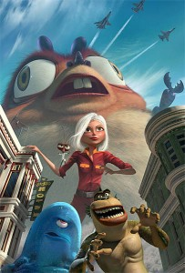 Monsters Vs. Aliens Promo Poster