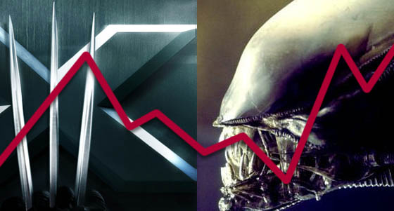 From Alien to X-Men: 32 Franchises and Trilogies in 2 Charts